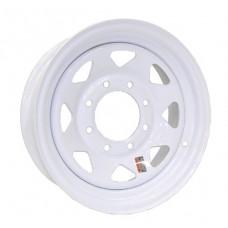 61-16.5S8   16.5 x 6.75 8 bolt White Spoke Trailer Rim