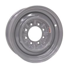 "61-16C8   16"" 8 bolt Silver Conventional Steel Trailer Wheel"