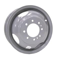 "61-16CD8   16"" 8 bolt Silver Dual Wheel Conventional Style Trailer Rim"