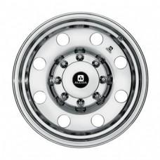 "61-17.5CD8A   17.5"" 8 bolt Conventional Polished Aluminum Trailer Rim"