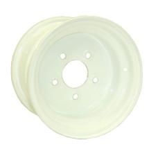 "61-8*7F5    8"" 5 bolt Conventional White Trailer Rim"
