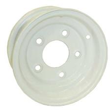 "61-8F5   8"" Conventional White Steel Trailer Rim"
