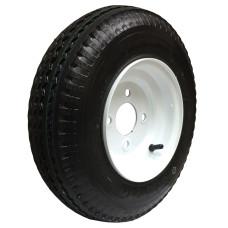 62-480-8-4-C     480- 8 C LOADSTAR Trailer Tire on 4 Bolt White Spoke Wheel