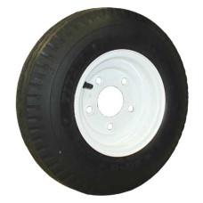 62-480-8-5-C     480-8 C LOADSTAR Trailer Tire on 5 Bolt White Spoke Wheel