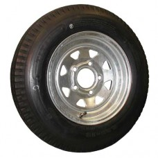 62-530-12S5BG    530-12 B LOADSTAR Trailer Tire on 5 Bolt Galvanized Spoke Wheel