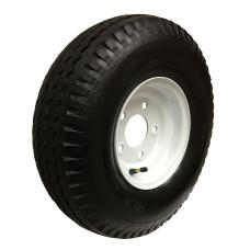 62-570-8-5-C     570-8 C LOADSTAR Trailer Tire on 5 Bolt White Wheel