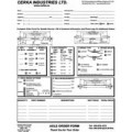 Trailer Axle Order Forms